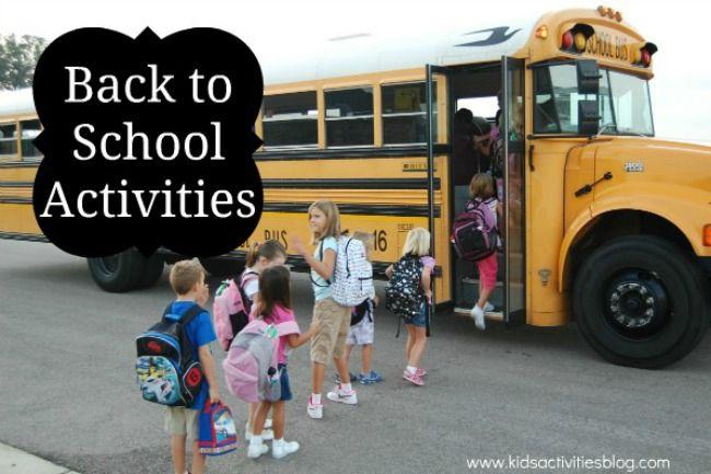 Back to School Activities - Kids Activities Blog