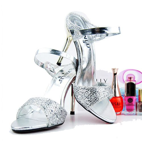 Hot Gold silver Slippers, Woman Fashion Slipper Sexy Slippers High Heel Sandals Summer Sandals 2014, XWZ120 $18.40