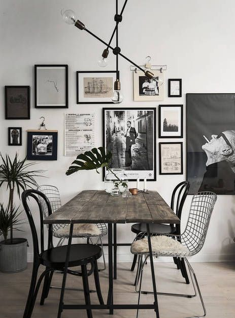 Home with a great art wall - via Coco Lapine Design