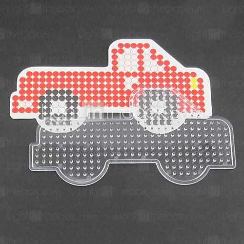 1PCS Template Clear Perler Beads Pegboard Red Truck Pattern for 5mm Hama Beads Fuse Beads 2017 - $1.99