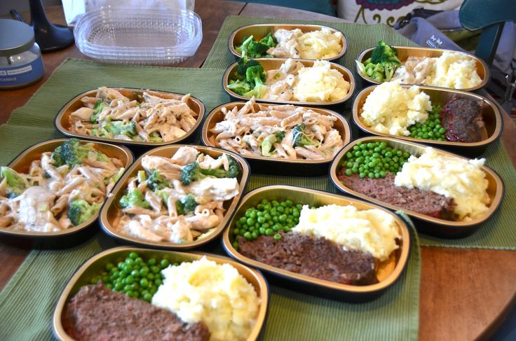 Creamy Herbed Chicken and Meatloaf Meals