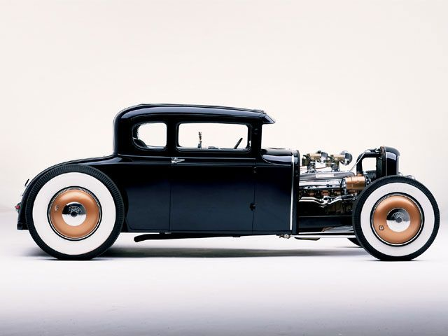 1931 Ford Model A Coupe, classic old school hot rod.