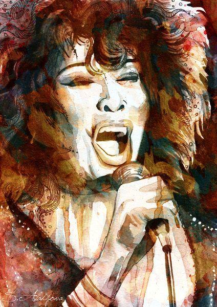 """""""Tina Turner"""" by Slaveika Aladjova"""