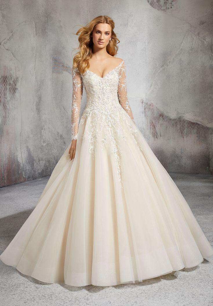 Mori Lee 8281 Laurel Off-The-Shoulder Bridal Gown