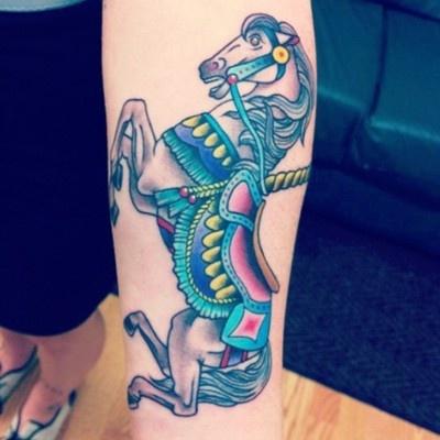 Carousel horse. By Chris Barnett at Good Faith.