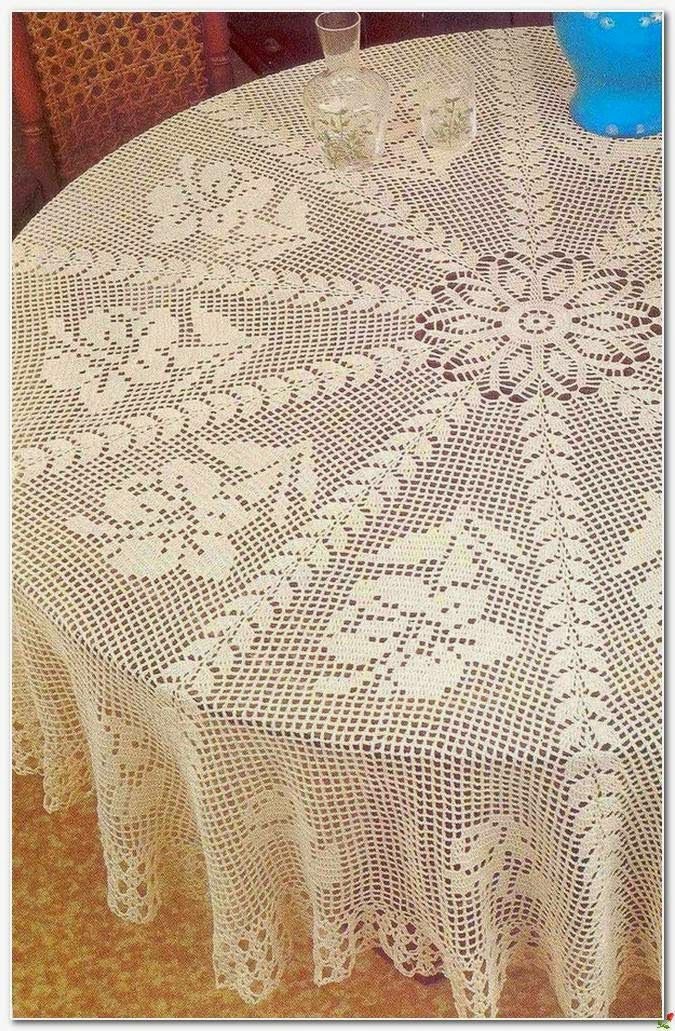 Crochet and arts: crochet round tablecloth