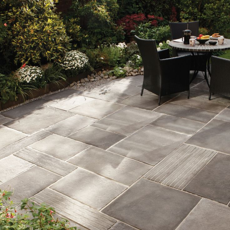 Patio Slab Design Ideas Patio Paving Ideas Home Landscaping Pinterest