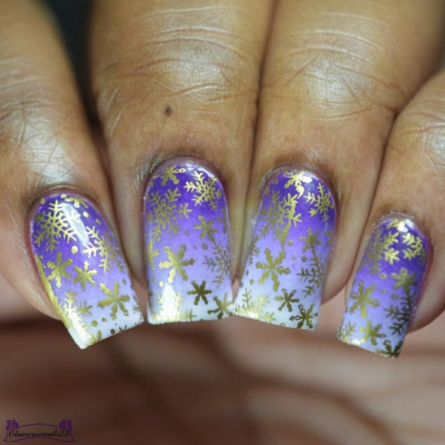 Nail Crazies Unite Day 12 - Gold Snowflakes