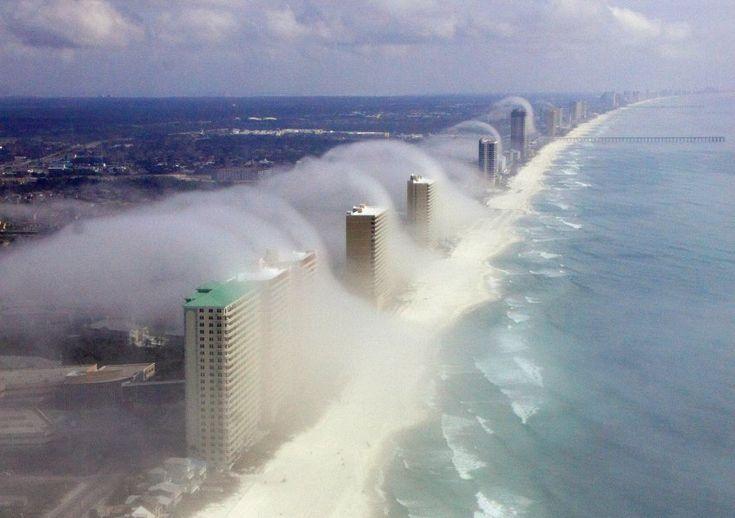 the beach of Panama City, Florida