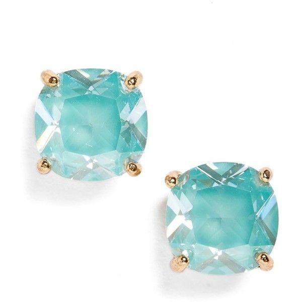 Women's Kate Spade New York Mini Stud Earrings (€26) ❤ liked on Polyvore featuring jewelry, earrings, accessories, blue, mint, blue cubic zirconia earrings, earring jewelry, blue jewelry, cz earrings and mint green stud earrings