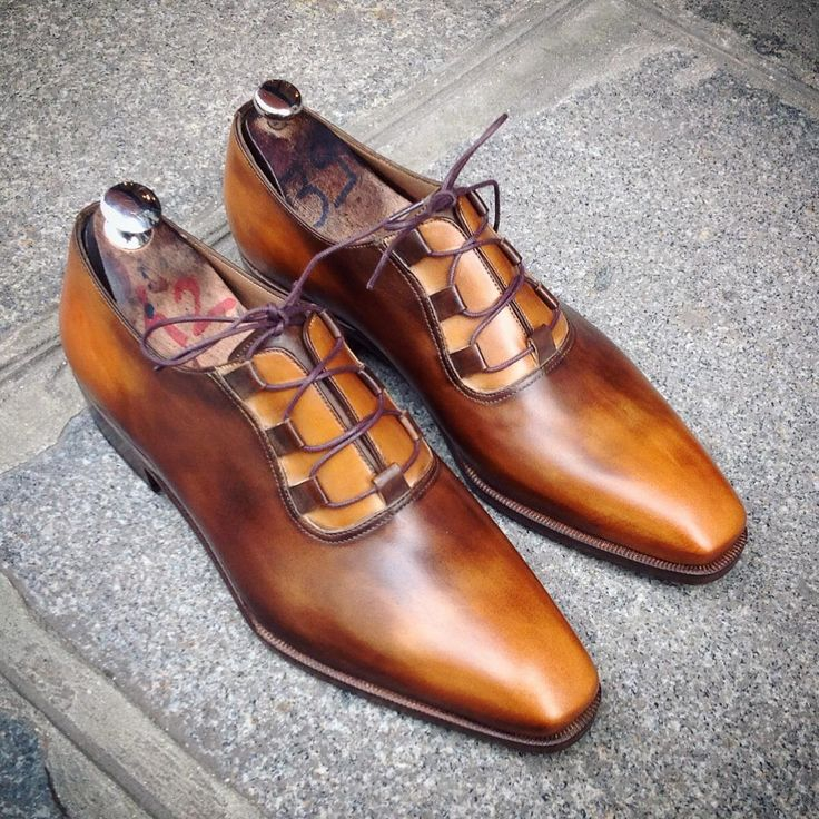 YAKUZA model, perfect honey patina. #handmade #france #paris #caulaincourt  # · Male ShoesMen's ShoesDress ShoesShoe PolishLeather ...