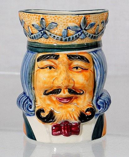 Vintage Japanese Toby Beer Mug King Hp Blue Hair Mint