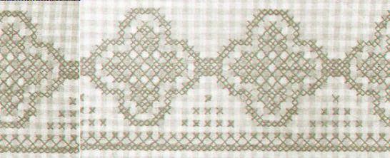 le vichy est un tissu tr s employ pour le point de croix. Black Bedroom Furniture Sets. Home Design Ideas