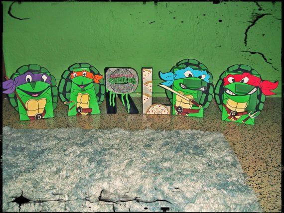 Teenage Mutant Ninja Turtle Themed Letter Art By