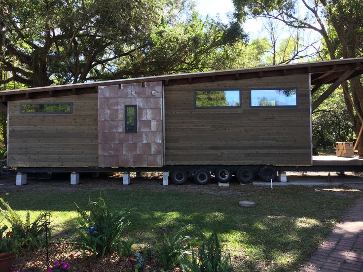 Brand New!! Wedge Park Model RV by WheelHaus. $85,000 400 SQ foot living area and 100 SQ foot outdoor area With a striking roofline and exterior siding built from reclaimed Wyoming snow fencing combining a rustic feel with sustainable, built-to-last mentality in one structure. Boasting impressively high ceilings under a timber and steel roof system…