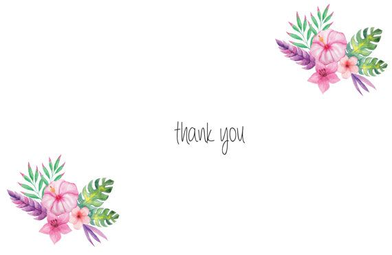 Handmade thank you card floral personalized by mindyourpeasandqs