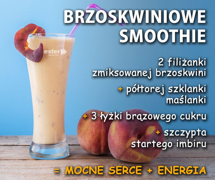 Lubicie brzoskwinie? W smoothie smakują wspaniale! :) #smoothie #napoje #jedzenie