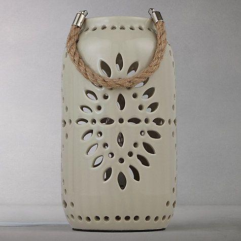Buy John Lewis Leon Ceramic Lantern Online at johnlewis.com