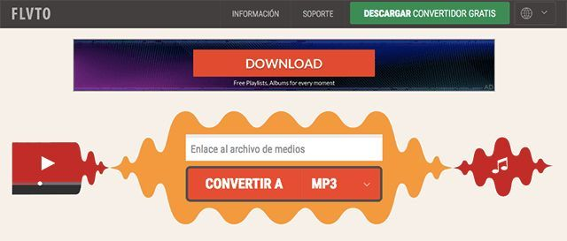 Convertidor Youtube Mp3 Flvto Mp3 Converter Get The Mp3 By