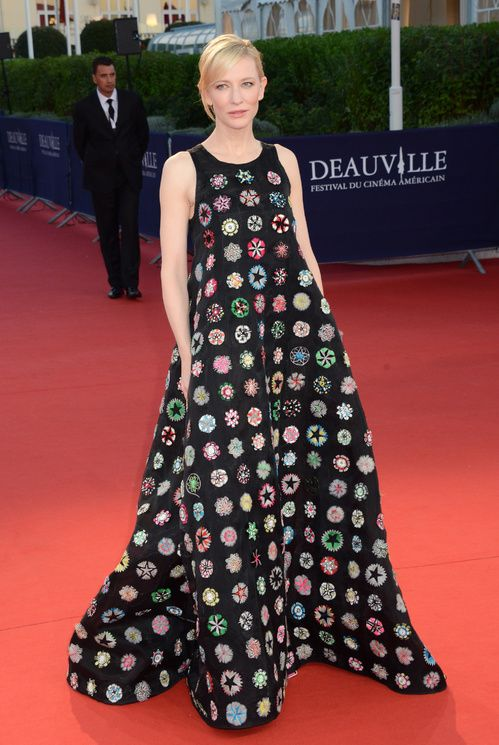 Cate Blanchett en robe Dior au Festival de Dauville