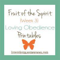 Fruit of the Spirit loving obedience