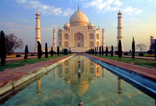 De Taj Mahal : de wit marmeren ode aan de liefde.