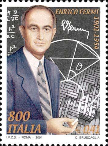 Italy Stamp - Enrico Fermi 1901-1954
