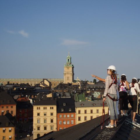 Roof top hiking in Stockholm