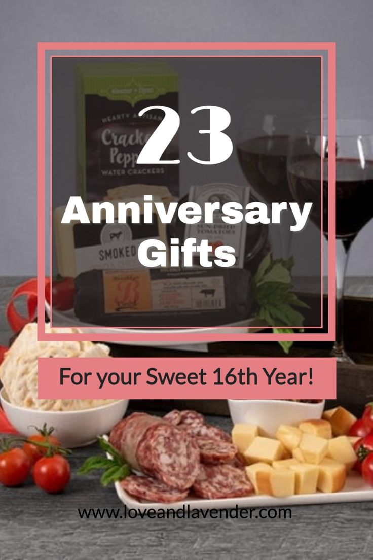 23 anniversary gifts for your sweet 16th year in 2021