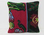 20x20 kilim pillow 20x20 cushion cover large bohemian pillow large cushion cover large rug big pillowcase large decorative pillow red 27901