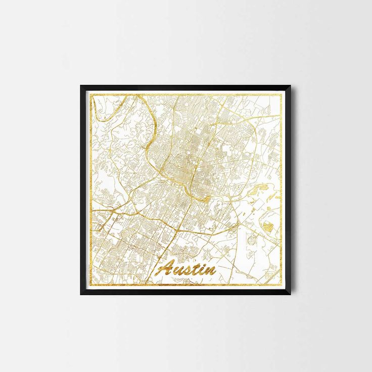 Austin map posters are high quality map art prints of a great city. Perfect for the house and office or as a gift for a friend.v