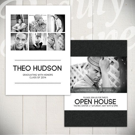 Senior Announcement Card Template Hall of by BeautyDivineDesign, $8.00