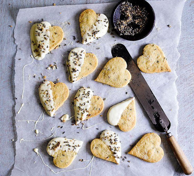 Zandkoekjes met lavendel & witte chocola (Jamie Magazine)
