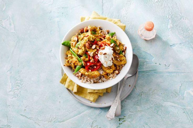 Heerlijke Indiase curry met in yoghurt gemarineerde kip - Recept - Allerhande