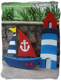 ¡Ahoy marineros!!!   Esta celebración fué en honor a unos bellos gemelos que sus padres llevaron a navegar con sus hermosos trajes de mar...