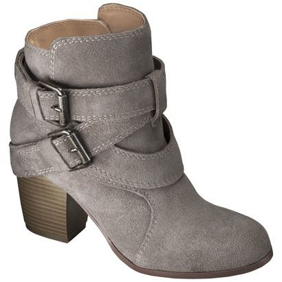 Love these Taupe Ankle Boots for Fall 2014! The perfect color for any outfit - jeggings, dresses, or leggings! On sale for $34.98 plus buy 1 get 1 50% off!!! Get them now at #Target #ad #booties