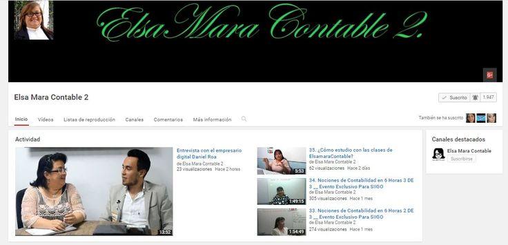Mi segundo canal, para recibir notificaciones de los nuevos videos, pueden suscribirse. https://www.youtube.com/user/elsamaracontable2