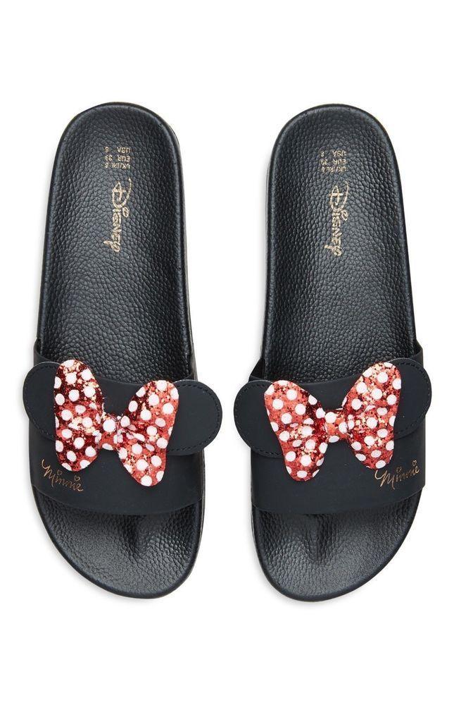 3ea7965fcc11 Ladies DISNEY MINNIE MOUSE Pool Sliders Sandals Flip Flops Beach Shoes  Primark  pumpsshoesprimark