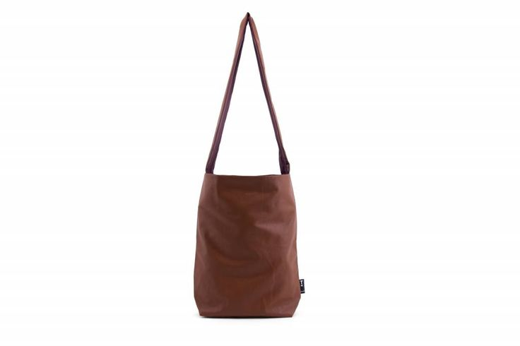 Tinne+Mia Feel Good Bag with quote-autumn brown