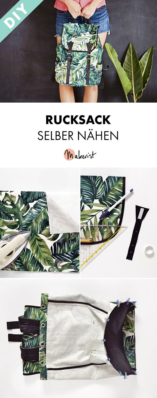 Rucksack selber nähen - Gratis-Nähanleitung und Schnittmuster via Makerist.de