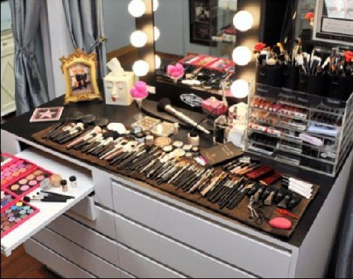 120 best images about hottest celebrity brand makeup for Beauty table organiser