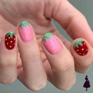 Diseños de uñas de frutas para esta maravillosa primavera Funky Nails, Cute Nails, Pretty Nails, Diy Nails, Nail Swag, Spring Nails, Summer Nails, Spring Nail Art, Tie Dye Nails