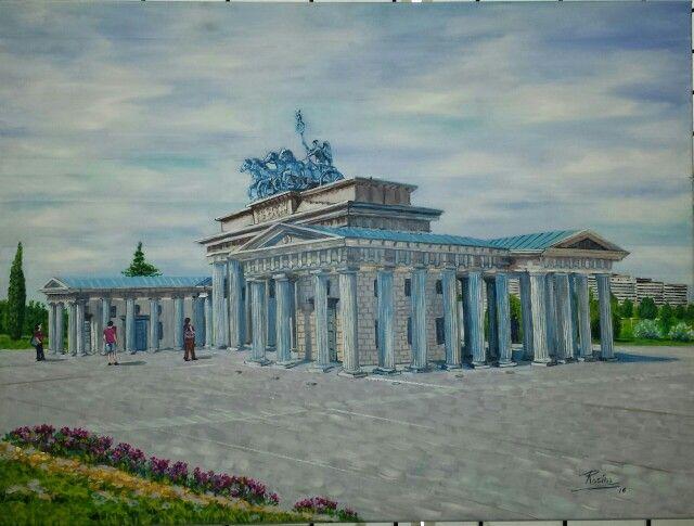 Puerta de Brandenburgo .Torrejón de Ardoz.Madrid .ACRILICO.