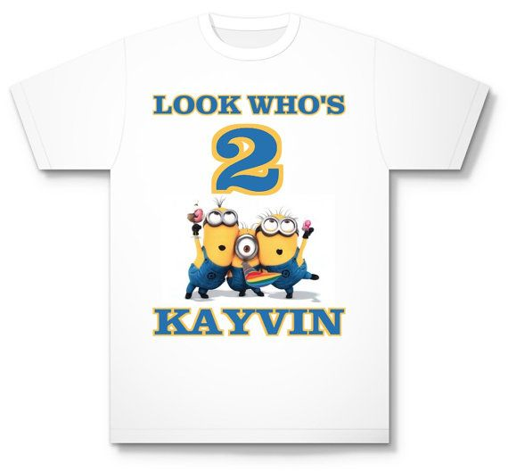 Personalized Despicable Me Minion Birthday T by Kustomkidsgifts, $15.00