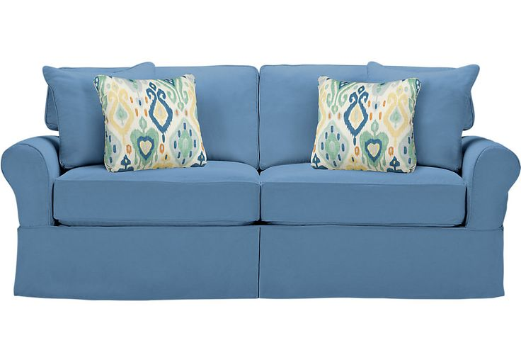 Cindy Crawford Home Beachside Blue Sleeper Sofa  - Sleepers (Blue)