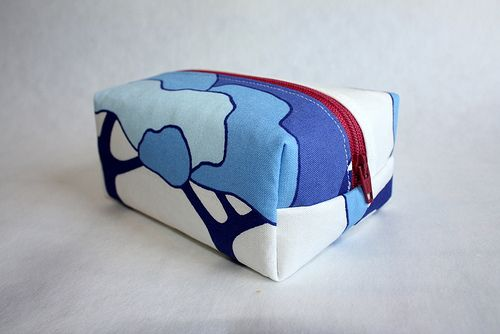 Blue Trees Box Pouch