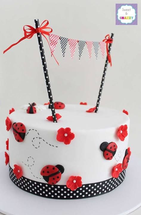 Lady Bug Cake from Sweet & Snazzy Featured @ www.partyz.co your party planning search engine!