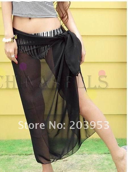 Сексуальные женщины купальники бикини шарфы Пляжное полотенце купальник завернутый пряжи обертывание юбка шаль пляжное полотенце плавать мантии черный