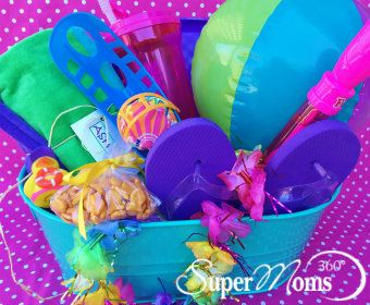 19 best easter baskets for kids tweens teens images on pinterest beach bunny basket super momeaster gifteaster negle Images