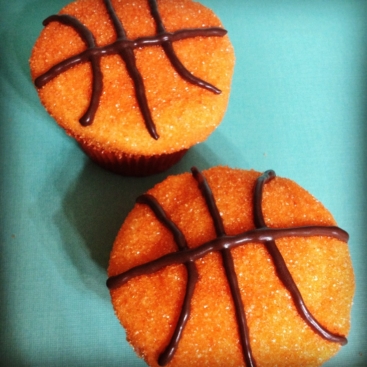 Basketball Cupcakes: Live in the New Orleans area and want to order these delectable treats? The Cake Pop Shoppe has catered for birthday parties, bridal showers, baby showers, holiday parties, weddings, and more and we would LOVE to create a special design for your next event! Email us at cakepopshoppenola@gmail.com to request an order form and Like us on www.facebook.com/cakepopshoppenola    WE DO CAKE POPS TOO!